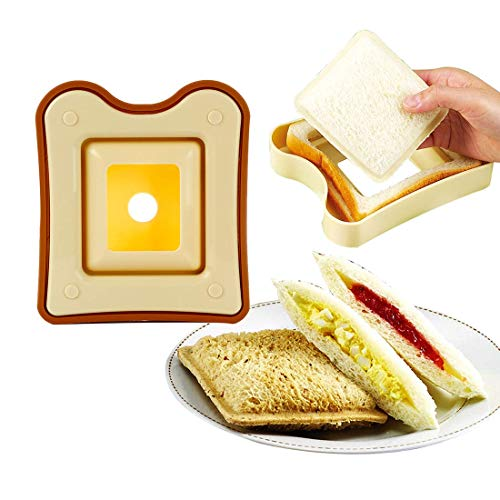 RTYUI Sandwich Cutter and Sealer Uncrustable Sandwich Maker Lunchbox and Bento Box Bread Decruster Remover for Kids Gifts
