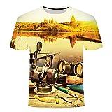 RelaxLife Hombre 3D Estampado Camiseta Hombres Ocio Camiseta De Impresión 3D, Camiseta Divertida De Hombres Y Mujeres con Estampado De Pescado...