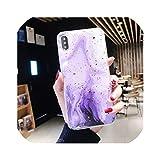 iPhone 11 Pro Max XS Max XR XS X 6 6S 7 8 Plus Soft TPU Gold Powder Phone Back Cover用の段階的な色の大理石ケース、iPhone 11Pro Max用