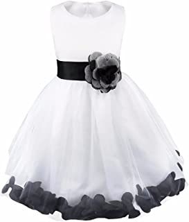 05275b5e85d4 Girl Flowers Petal Sleeveless Wedding Formal Dress Kid Princess Bridesmaid  Christening Party Dresses 2-14
