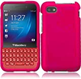 Rubberized Plastic Hot Pink Hard Cover Snap On Case For Blackberry Q5 (StopAndAccessorize)