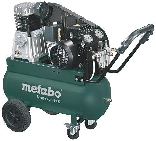 Metabo Kompressor Mega Mega 400-50 D (601537000) Karton, Ansaugleistung: 400 l/min, Füllleistung: 300 l/min, Effektive Liefermenge (bei 80% max. Druck): 260 l/min