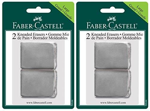 Faber Castell 2-Pack - Large Kneaded Eraser 2 Erasers per pack (4 Total Erasers)