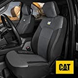 Caterpillar MeshFlex Automotive Seat Covers for Cars Trucks and SUVs (Set of 2) – Car Seat Covers for Front Seats, Universal Fit Design with Comfortable Mesh Back, Side Airbag Compatible