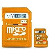 Micro SD 1024 GB (1 TB) V1.2 - Scheda di memoria, capacità reale + adattatore