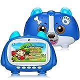 Padgene Tablet para niños, 7 Pulgadas, Android 9.0, con Modo Bloqueo de niños, Pantalla táctil IPS, WiFi Doble cámara, Funda de Silicona para niños y niñas (Azul)