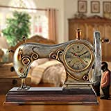 MOMO Reloj de Mesa Antique European Bell Silent Living Room Reloj de...