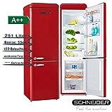SCHNEIDER CONSUMER SL 250 FR-CB A++ frigorifero con congelatore Libera installazione Rosso 251 L A++