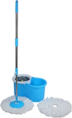 Esquire Elegant Mop Bucket Set with Metal Bowl with 1 Extra Refill