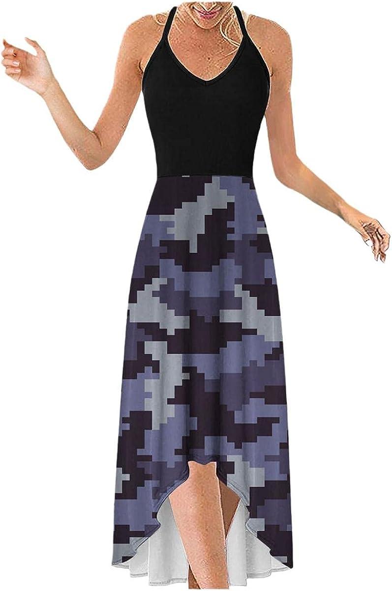 Odoukey Summer Casual Womens Short Sleeve Elegant Slim V-Neck Wrap Vintage Floral Sundresses Comfortable Dresses