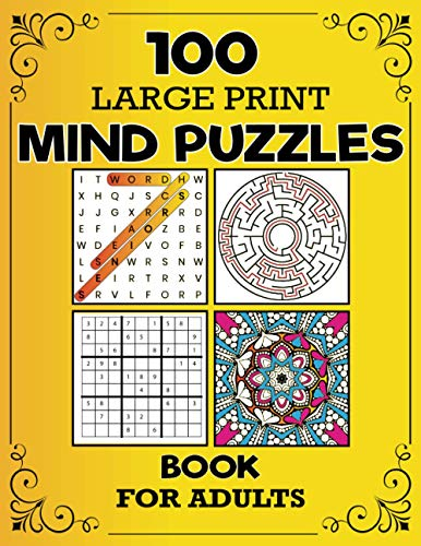 100 Large Print Mind Puzzles Boo...