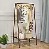 Triángulo para ropa interior individual, percha simple de aterrizaje, 1 zapatero para tienda, 63 cm de largo x 38 cm de ancho x 126 cm de alto, color marrón (color: blanco)