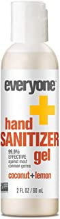 Everyone Hand Sanitizer Gel, Coconut and Lemon, 2oz, 6 Count