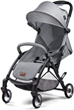 WRJY Sillas de Paseo para cochecitos de bebé Sillas de Paseo de Alta Vista Carro de bebé Luz Carro de bebé Sentarse Mentira Trolley para niños (Color: Azul), Gris Oscuro (Color: Gris)