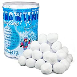 Indoor Snowball Fight - Snowtime Anytime 40pk - Safe, No Mess, No Slush