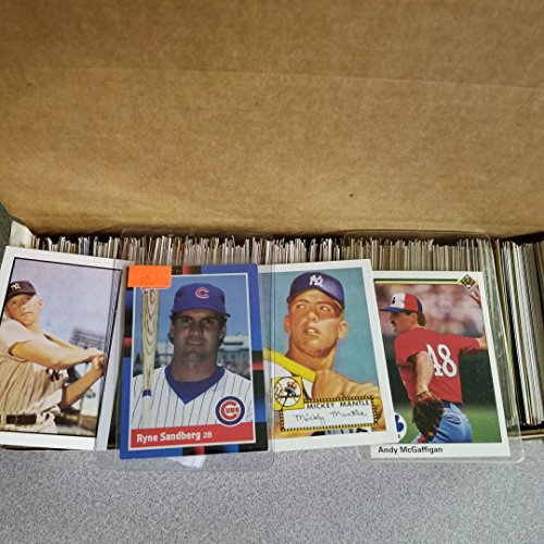 600 Baseball Cards Including Babe Ruth, Unopened Packs, Many Stars, and...