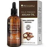 PraNaturals 100% Huile d'Argan Naturelle Marocain Pure pour le Visage et le Corps - Riche en Vitamine E pour une Peau, des Cheveux et des Ongles en Bonne Santé - Sans Parabens ni SLS - Vegan