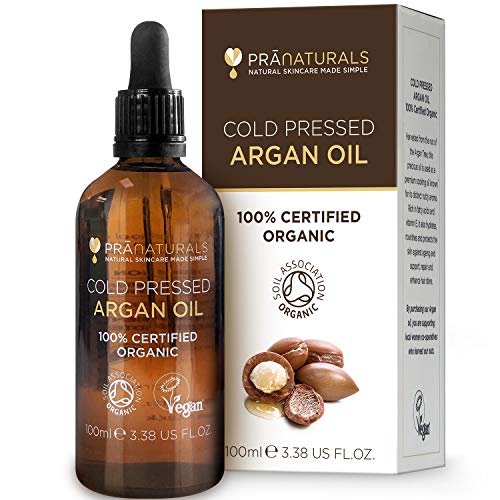PraNaturals 100% Organic Moroccan Pure Natural Argan Oil for Face & Body...