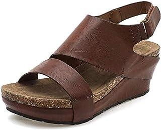 Sandalias Mujeres Moda Zapatillas De Mujer con Plataforma Grande Sandalias Bohemia Casuales Zapatos De Playa Sandalias Romanas Chanclas De Damas Cuñas De Mujer Verano 2019