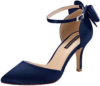 Amazon.com: navy blue evening shoes