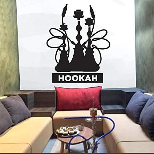 Shisha Club Wandaufkleber Zitate Shisha Schaufenster Dekore Kunst Wandtattoos Shisha Lounge Muster Reine Farbe Abnehmbar 42x51cm