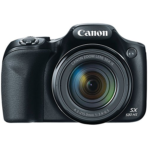 Canon SX530 HS 16.0 MP PowerShot CMOS Digital Camera with 50x Optical Image Stabilized Zoom (24-1200mm) and 3-Inch LCD HD 1080p Video