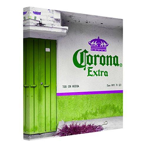 Bilderwelten Impression sur Toile - Corona Extra Green - Carré 1:1, Toile imprimée Toile Impression Photo sur Toile XXL décoration Murale Art Murale, Dimension: 70cm x 70cm
