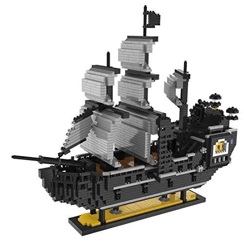 BGOOD Juego de construcción de barco pirata 3247 bloques de construcción de barcos piratas de barcos 3D Nano Micro Blocks, juguete de construcción para niños y adultos, no compatible con Lego