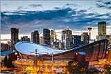 Poster 150 x 100 cm: Stadion und Skyline von Calgary,