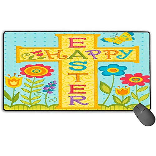 Grote muismat, Happy Pasen Design Extended Gaming Mouse Pad Mat Desk Pad Anti-lip Rubber Mousepad 40x75 cm