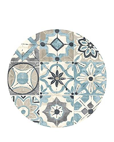 Vilber, Alfombra Vinilo Redonda, KOLLAR color 03, Diámetro 65 cm