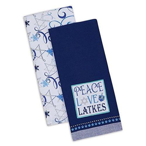 DII Hanukkah Peace Love Latkes Dishtowels (Set/2)