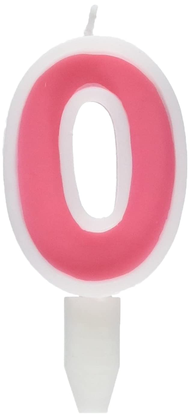 計算可能第四豚肉ナンバーキャンドルビッグ 0番 「 ピンク 」 10個セット 75510700PK