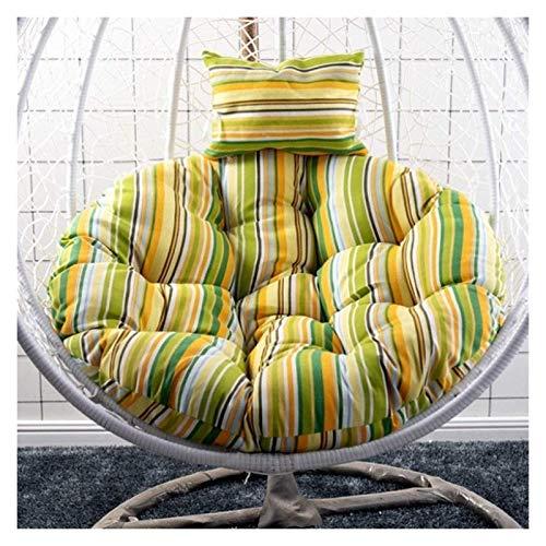 Cojín para silla de huevo DYYD, cojín para silla con columpio, cojín para silla colgante de huevo, hamaca, para interior y exterior, para colgar en el jardín (color: verde)