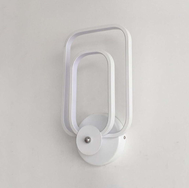 LED Wandleuchte, Aluminium Taste Wandleuchte, moderne minimalistische Mode Schlafzimmer Den Wohnzimmer Wandleuchte 190  260 (mm) (Farbe   Weies Licht)