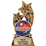 Crown Awards Nurse Trophy, 6' Glory Resin Nursing with Heart Trophies with Free Custom Engraving