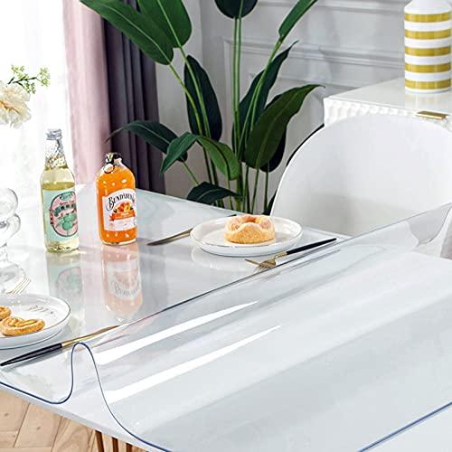 HXZ Tovaglia in PVC, tovaglietta Trasparente, tovaglia in plastica Trasparente, Il Piano del Tavolo è Impermeabile e Resistente al Calore