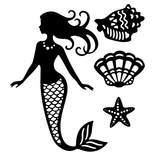 Stanzschablonen | Meerjungfrau | 4 Stück