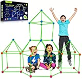 BFUNTOYS Fort Building Kit for Kids Glow in The Dark 200 PCS - Creative Forts Construction Builder stem Toys for Indoor, Outdoor, Boys and Girls, Play Tunnels Magic Building Castles Rocket Tower