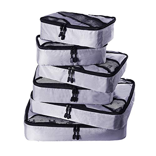 Liqiqi - Bolsa de viaje de gran capacidad, multifuncional, impermeable, 6 unidades, Gris (gris), Long20cmLarge8cmHaute15cm