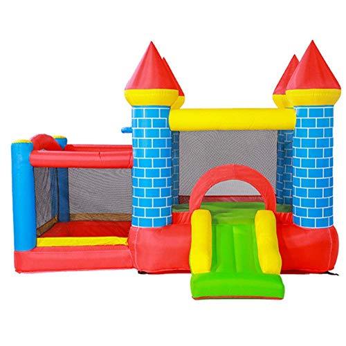 BSJZ Inflables Castillos hinchables jardín de Infantes trampolín niños al Aire Libre Juguetes Fuertes traviesos Equipo de Parque de Atracciones Adecuado para