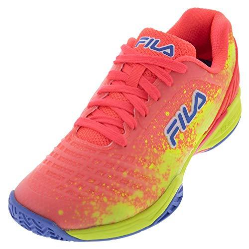 Fila Women's Axilus 2 Energized Tennis Shoe (Diva Pink/Safety Yellow/Wedgewood, 11)