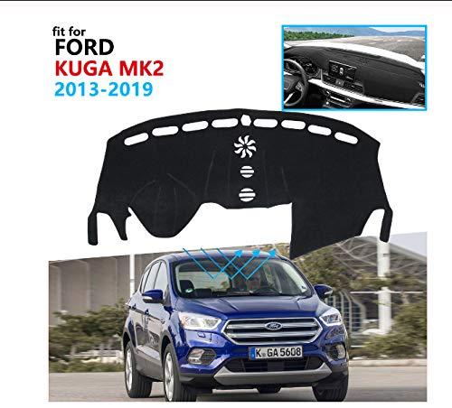 linfei Armaturenbrettabdeckung Schutzpolster Für Ford Kuga 2013-2019 Mk2 Escape Autozubehör Armaturenbrett Sonnenschutz Teppich Links Blue Edge