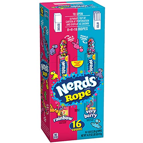 Nerds Ropes Very Berry and Rainbow Variety, 16 Count by Ferrara