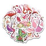 WYZNB 19 unids lindo flamenco rosa graffiti pegatinas cuaderno refrigerador maleta casco impermeable decoración DIY coche pegatinas