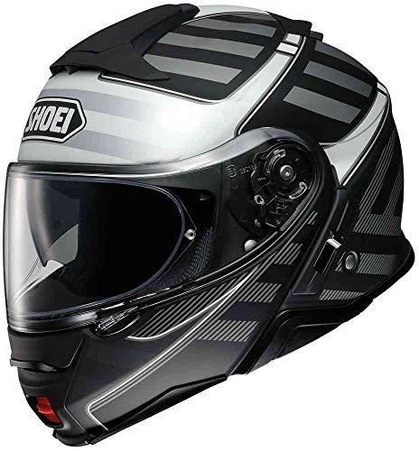 Shoei Neotec 2 Splicer Flip Front Motorcycle Helmet M Black Silver (TC-5)