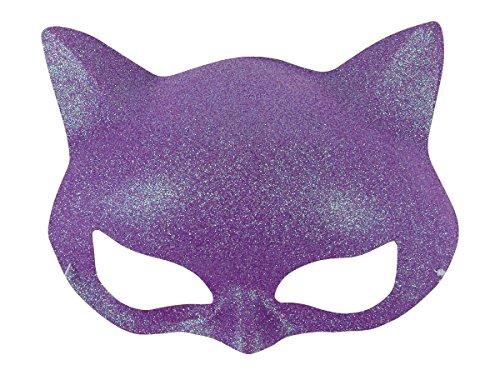 Alsino Glitzer Katzen Maske Augenmaske Party Inkognito Gesichtsmaske venezianische Maske bunt , Variante wählen:MAS-22c lila
