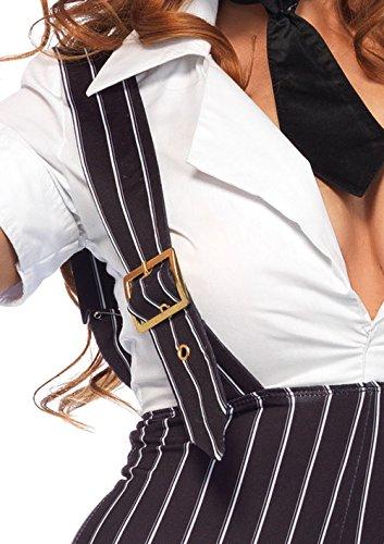 Leg Avenue Women's 3PC.Brass Knuckle Babe, Black/White, Small
