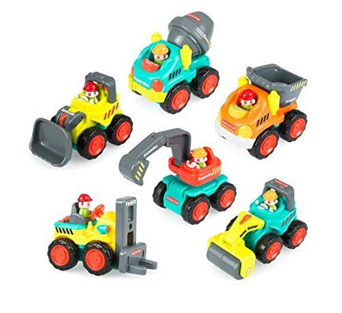 FREQ TONE 建設車両 おもちゃ 6種類 セット 自動車 じどうしゃ ミニカー 働く車 ダンプカー ショベルカー ロードローラー フォークリフト ミキサー車 ブルドーザー 誕生日 バースデー プレゼント 贈り物 男の子 女の子