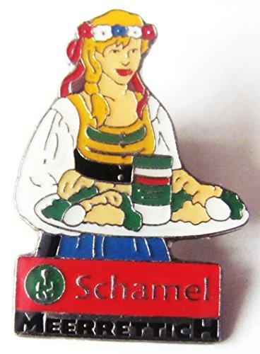 Schamel - Meerrettich - Frau mit Tablett - Pin 35 x 24 mm